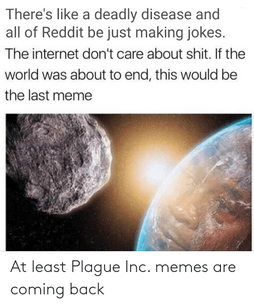 Memes Are Coming: At least Plague Inc. memes are coming back