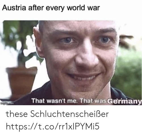 World, Austria, and Com: Austria after every world war  That wasn't me. That was Germiany  Gl.com these Schluchtenscheißer https://t.co/rr1xIPYMi5