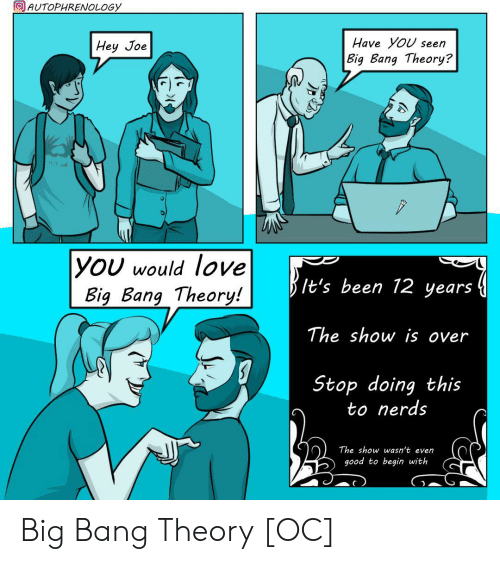 Love, Good, and Been: AUTOPHRENOLOGY  Have YoU seen  Hey Joe  Big Bang Theory?  11.2.06  |YOU would love  Big Bang Theory!  It's been 12 years  The show is over  Stop doing this  to nerds  The show wasn't even  good to begin with Big Bang Theory [OC]