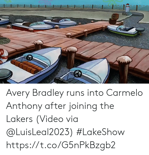 Joining: Avery Bradley runs into Carmelo Anthony after joining the Lakers   (Video via @LuisLeal2023) #LakeShow https://t.co/G5nPkBzgb2