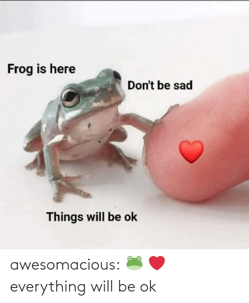 Will Be: awesomacious:  🐸 ❤️ everything will be ok