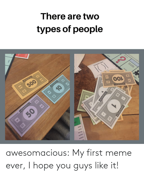 guys: awesomacious:  My first meme ever, I hope you guys like it!