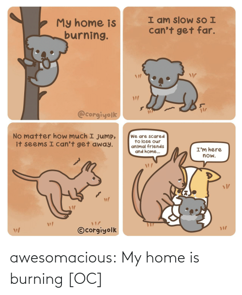 Tumblr Com: awesomacious:  My home is burning [OC]
