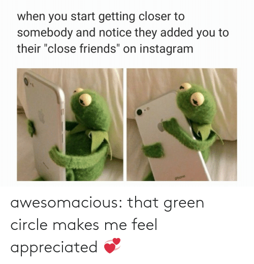 green: awesomacious:  that green circle makes me feel appreciated 💞