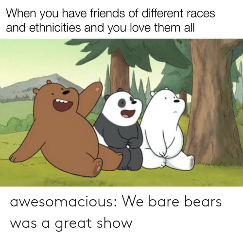 bare: awesomacious:  We bare bears was a great show