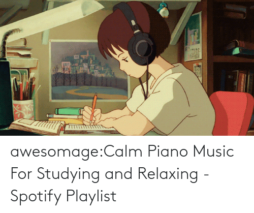 Piano: awesomage:Calm Piano Music For Studying and Relaxing - Spotify Playlist