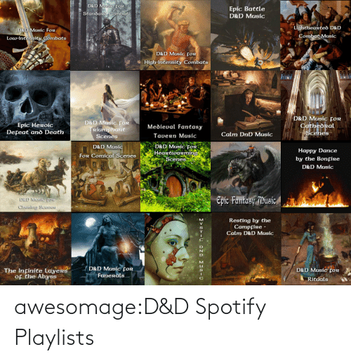 amp: awesomage:D&D Spotify Playlists