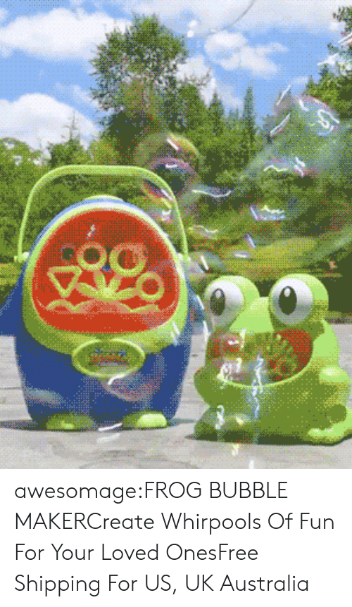 Cute, Funny, and Party: awesomage:FROG BUBBLE MAKERCreate Whirpools Of Fun For Your Loved OnesFree Shipping For US, UK  Australia