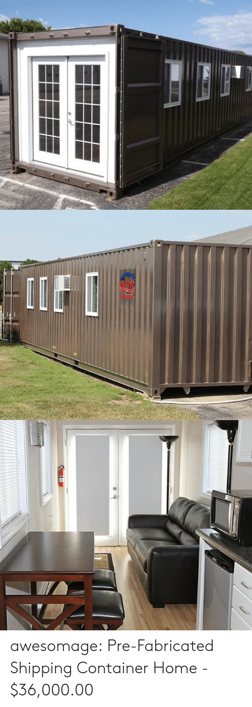 container: awesomage:  Pre-Fabricated Shipping Container Home-  $36,000.00