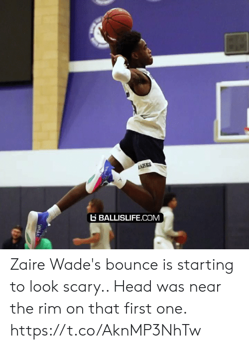 ballislife: AZERS  BALLISLIFE.COM  Wnde Zaire Wade's bounce is starting to look scary.. Head was near the rim on that first one. https://t.co/AknMP3NhTw