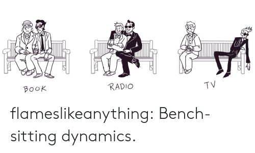 Radio, Target, and Tumblr: B০০K  RADIO  TV flameslikeanything:  Bench-sitting dynamics.