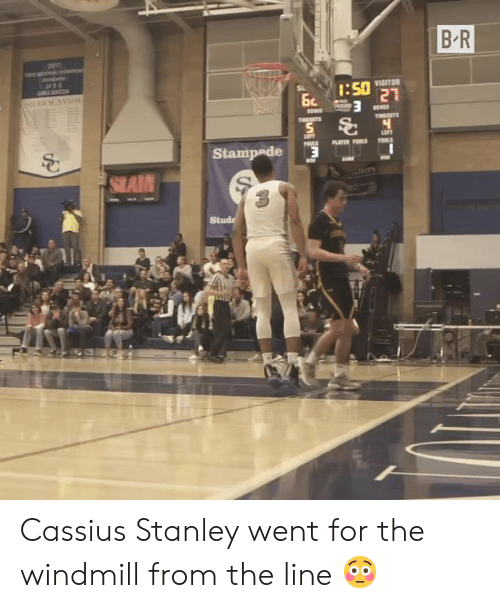 Stanley, For, and Went: B R  207  VISITOR  Stampede Cassius Stanley went for the windmill from the line 😳