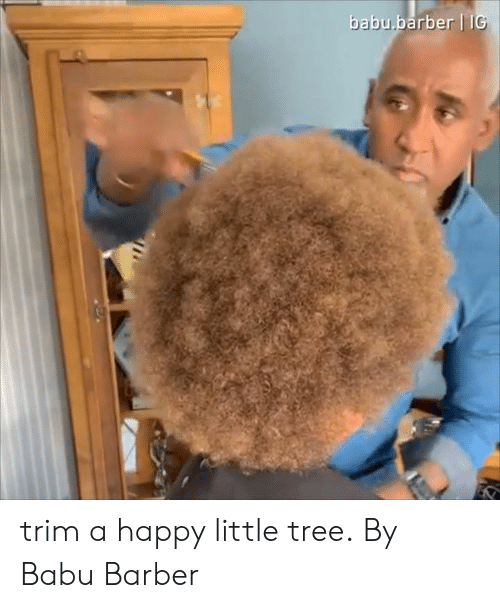 babu: babu.barber II trim a happy little tree.  By Babu Barber