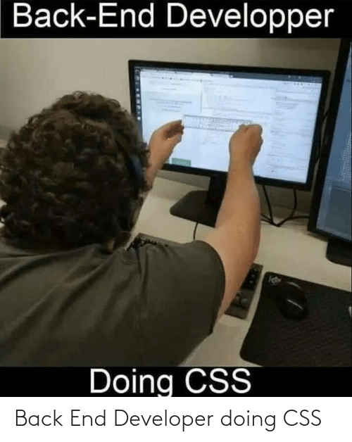 Back: Back End Developer doing CSS