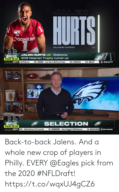 Back to Back: Back-to-back Jalens. And a whole new crop of players in Philly.  EVERY @Eagles pick from the 2020 #NFLDraft! https://t.co/wqxUJ4gCZ6