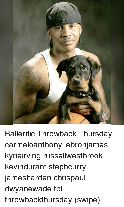 Throwback Thursday: Ballerific Throwback Thursday - carmeloanthony lebronjames kyrieirving russellwestbrook kevindurant stephcurry jamesharden chrispaul dwyanewade tbt throwbackthursday (swipe)