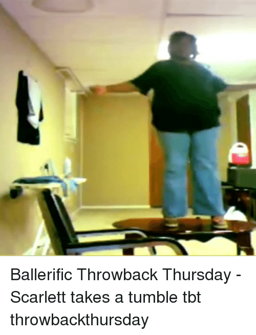 Throwback Thursday: Ballerific Throwback Thursday - Scarlett takes a tumble tbt throwbackthursday