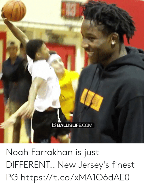 Noah: BALLISLIFE.COM Noah Farrakhan is just DIFFERENT.. New Jersey's finest PG https://t.co/xMA1O6dAE0