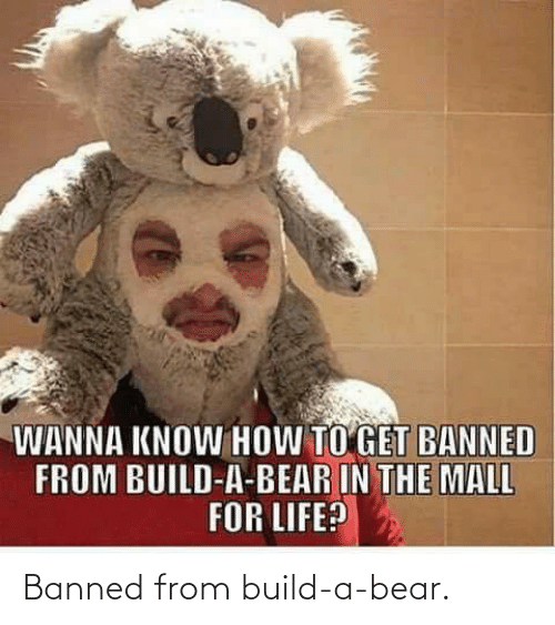 Build a Bear: Banned from build-a-bear.
