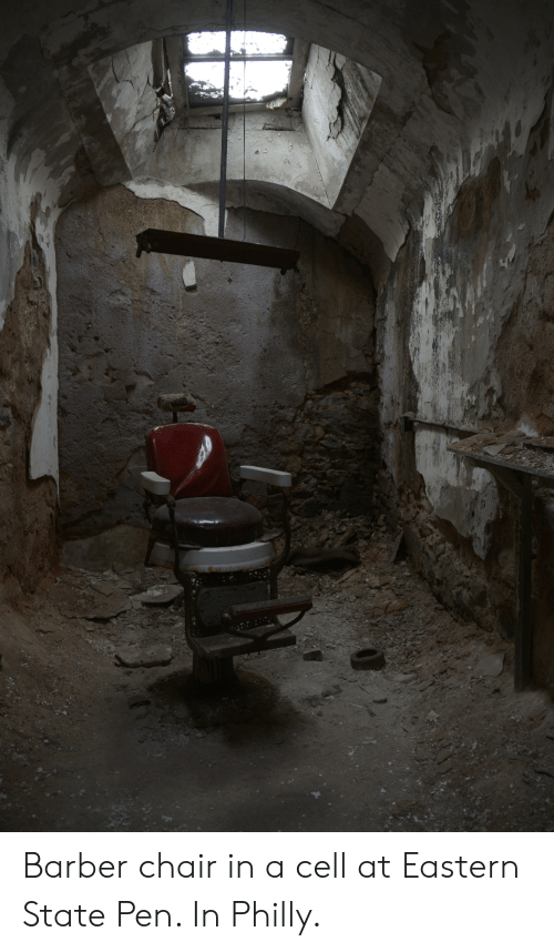 Barber Chair: Barber chair in a cell at Eastern State Pen. In Philly.