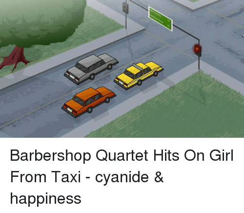 Cyanide Happy: Barbershop Quartet Hits On Girl From Taxi - cyanide & happiness