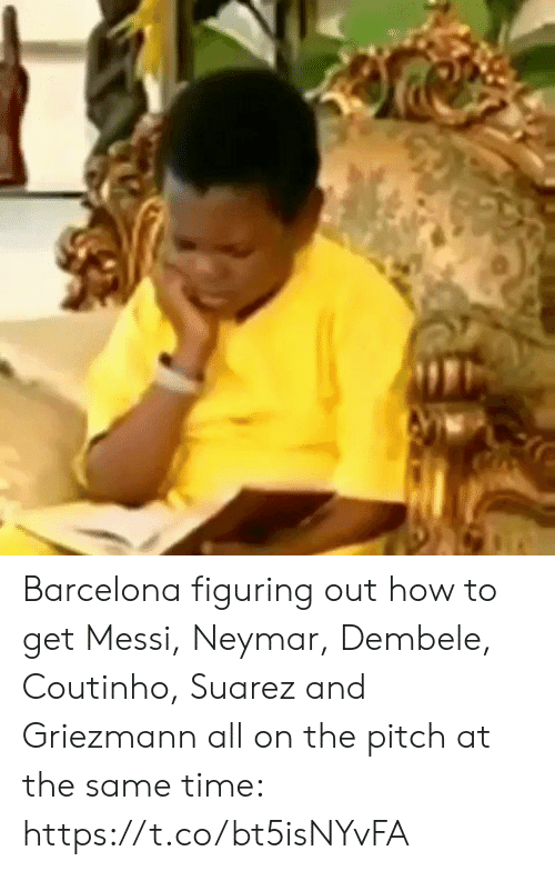 coutinho: Barcelona figuring out how to get Messi, Neymar, Dembele, Coutinho, Suarez and Griezmann all on the pitch at the same time:  https://t.co/bt5isNYvFA