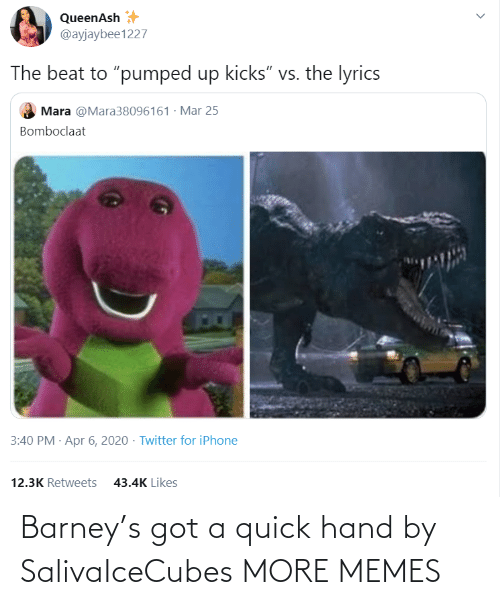quick: Barney's got a quick hand by SalivaIceCubes MORE MEMES
