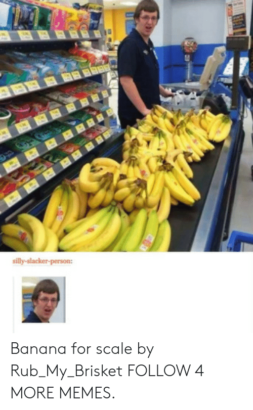 Rub My: BBBBBR  silly-slacker-person: Banana for scale by Rub_My_Brisket FOLLOW 4 MORE MEMES.