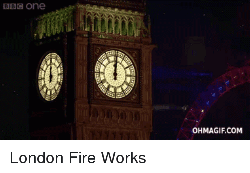 Ohmagifs: BBC One  OHMAGIF.COM London Fire Works