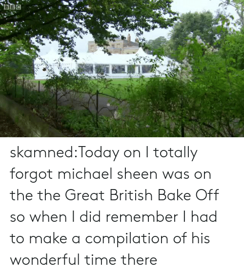 compilation: BBC skamned:Today on I totally forgot michael sheen was on the the Great British Bake Off so when I did remember I had to make a compilation of his wonderful time there