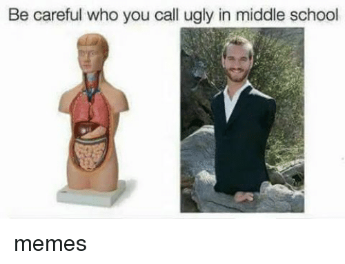Middle School Memes: Be careful who you call ugly in middle school memes
