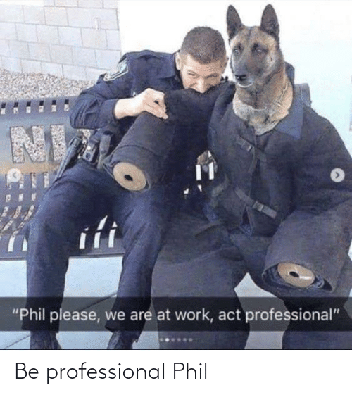 professional: Be professional Phil