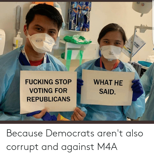 Corrupt: Because Democrats aren't also corrupt and against M4A
