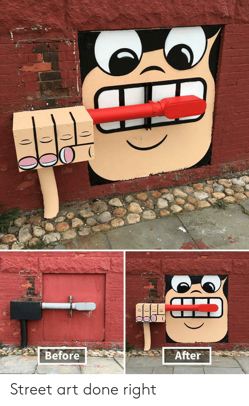 Art, Street, and Done: Before  After Street art done right