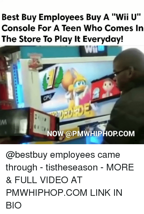 """Consolation: Best Buy Employees Buy A """"Wii U  Console For A Teen Who Comes In  The Store To Play it Everyday!  NO  a PMWHIPHOPCOM @bestbuy employees came through - tistheseason - MORE & FULL VIDEO AT PMWHIPHOP.COM LINK IN BIO"""