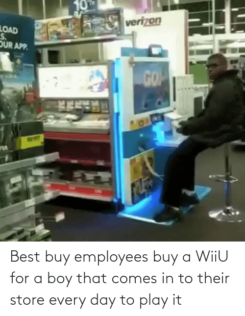 wiiu: Best buy employees buy a WiiU for a boy that comes in to their store every day to play it