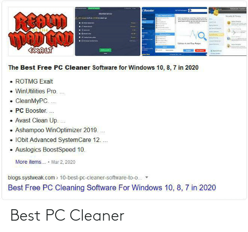 cleaner: Best PC Cleaner