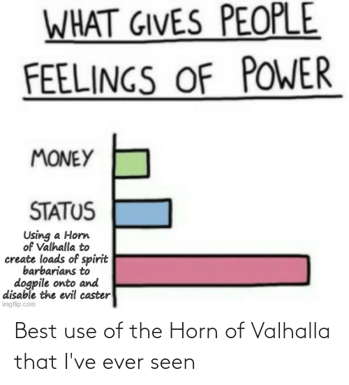 Horn: Best use of the Horn of Valhalla that I've ever seen