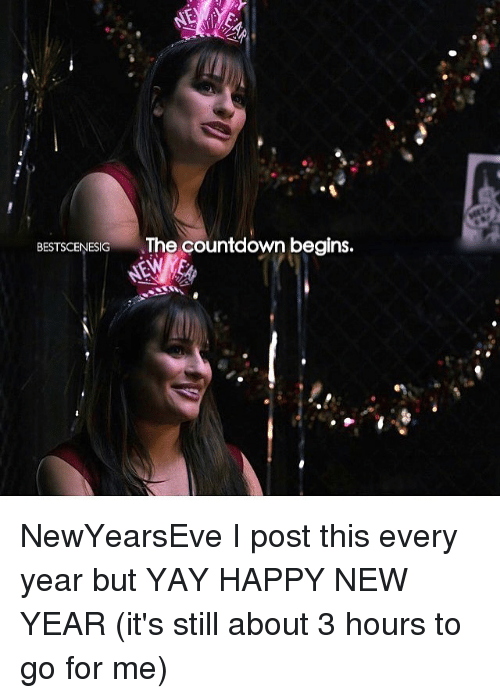 Newyearseve: BESTSCENESIG The countdown begins. NewYearsEve I post this every year but YAY HAPPY NEW YEAR (it's still about 3 hours to go for me)