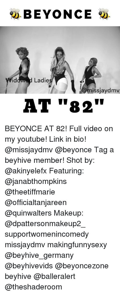 """beyhive: BEYONCE  Ladie  missjaydmv  AT """"82"""" BEYONCE AT 82! Full video on my youtube! Link in bio! @missjaydmv @beyonce Tag a beyhive member! Shot by: @akinyelefx Featuring: @janabthompkins @theetiffmarie @officialtanjareen @quinwalters Makeup: @dpattersonmakeup2_ supportwomenincomedy missjaydmv makingfunnysexy @beyhive_germany @beyhivevids @beyoncezone beyhive @balleralert @theshaderoom"""