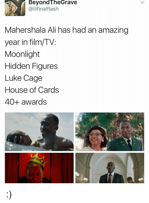 luke cage: Beyond The Grave  Galilfinalflash  Maher shala Ali has had an amazing  year in film/TV:  Moonlight  Hidden Figures  Luke Cage  House of Cards  40+ awards :)
