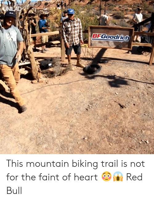 Dank, Red Bull, and Heart: BFGOOodrich This mountain biking trail is not for the faint of heart 😳😱  Red Bull