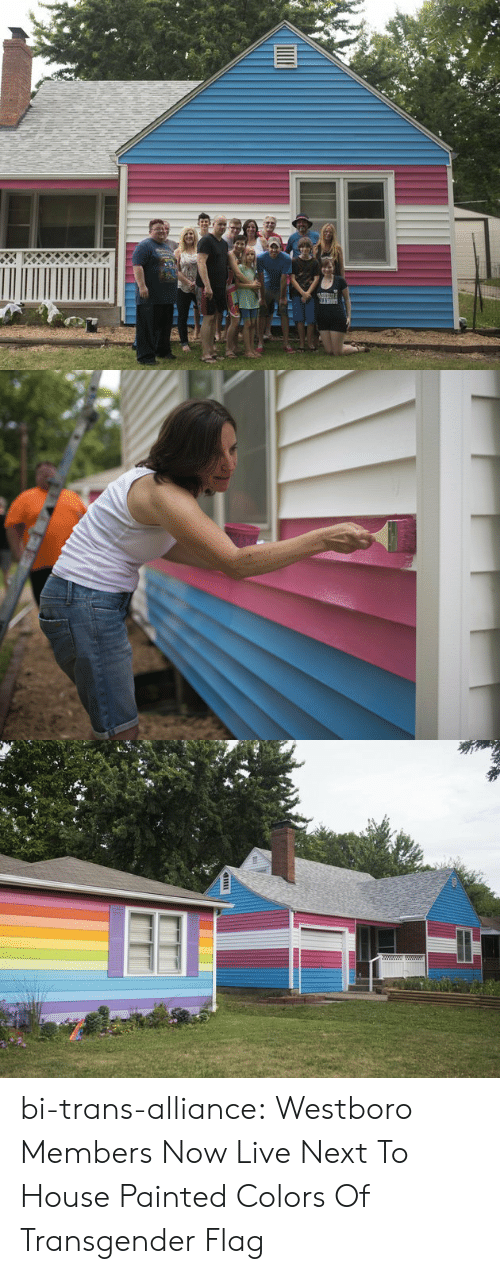 Transgender, Tumblr, and Blog: bi-trans-alliance:  Westboro Members Now Live Next To House Painted Colors Of Transgender Flag