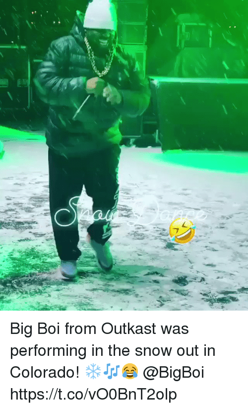 OutKast: Big Boi from Outkast was performing in the snow out in Colorado! ❄️🎶😂 @BigBoi https://t.co/vO0BnT2olp