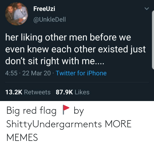 Big Red: Big red flag 🚩 by ShittyUndergarments MORE MEMES