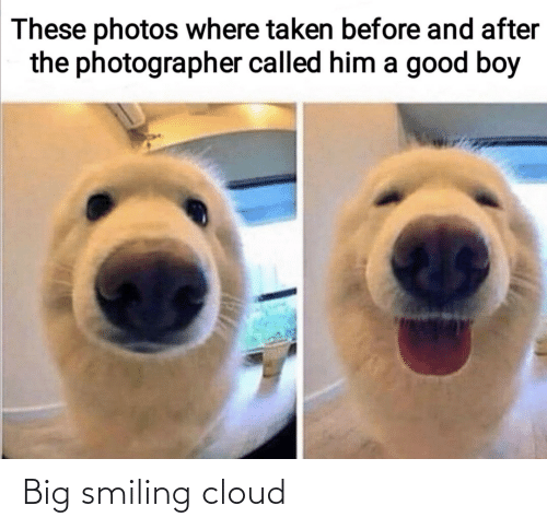 Cloud: Big smiling cloud