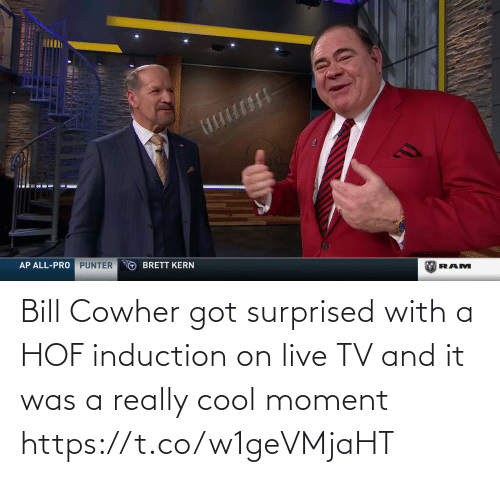 induction: Bill Cowher got surprised with a HOF induction on live TV and it was a really cool moment   https://t.co/w1geVMjaHT