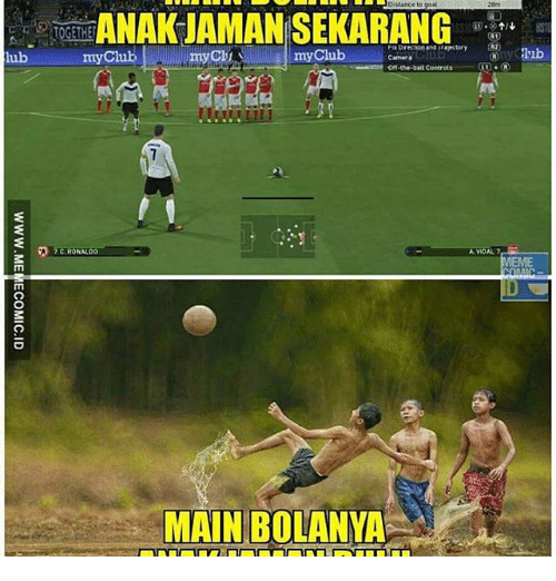 my c: bistance to goal  ANAK JAMAN SEKARANG  Direction and rayectory CR2  my Club  my C  lub  my Club  Camera  Off-the-ball Controls  C.RONALOO  A VOAL 7  MEME  MAINBOLANYA