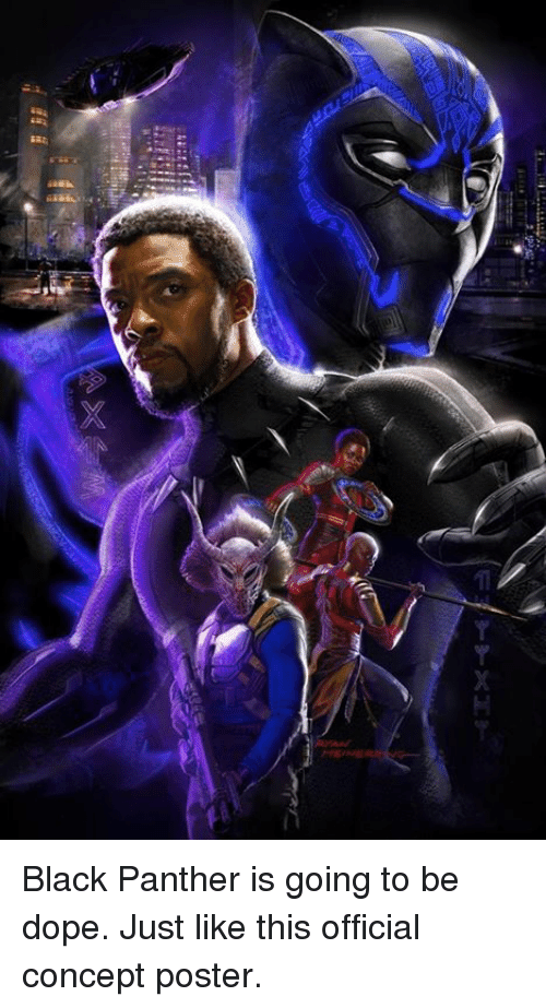 posterized: Black Panther is going to be dope. Just like this official concept poster.
