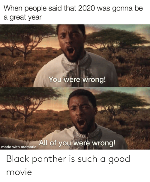 Black Panther: Black panther is such a good movie